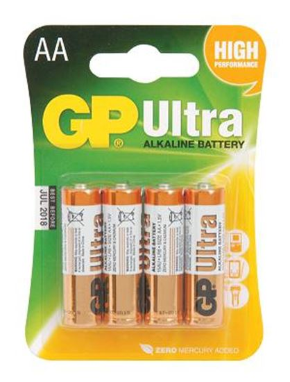 Picture of GP Ultra Alkaline Battery AA