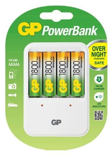 Picture of GP PB420 Charger + 4xAA 1800mAh Batteries