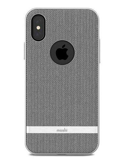 Picture of Moshi Vesta Herringbone Gray Case for iPhone X