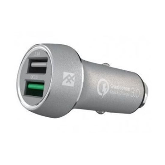 Picture of iFrogz Uniquesync Premium Dual Car Charger Silver