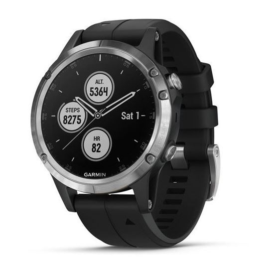 Picture of Garmin fenix 5 Plus Silver with Black Band - 12 interest free installments