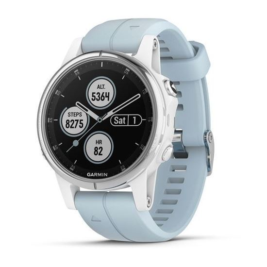 Picture of Garmin fenix 5s Plus White with Seafoam Band - 12 interest free installments