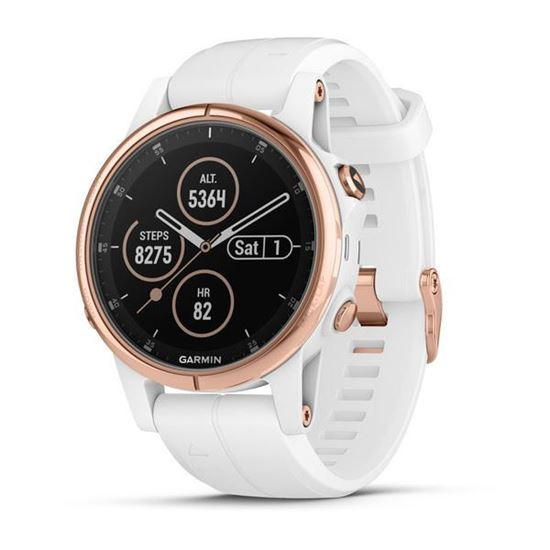 Picture of Garmin fenix 5s Plus Sapphire Rose Gold-tone with White Band - 12 interest free installments