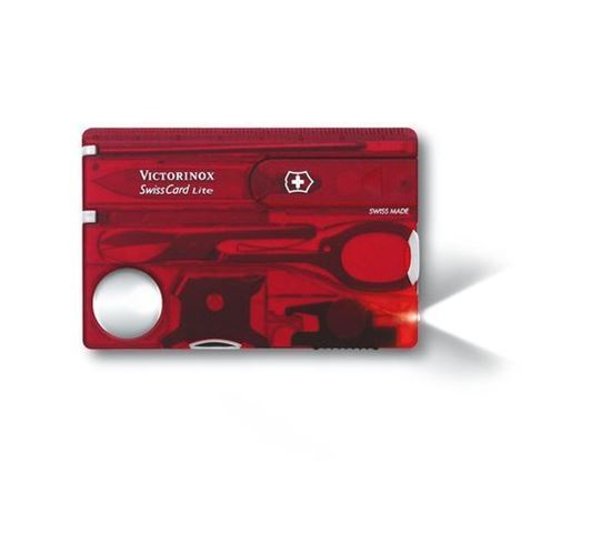 Picture of Victorinox SwissCard Lite Red Trasparent