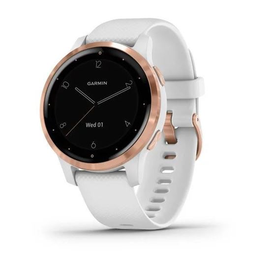 Picture of Garmin Vivoactive 4s White with Rose-gold Hardware - 12 interest free installments