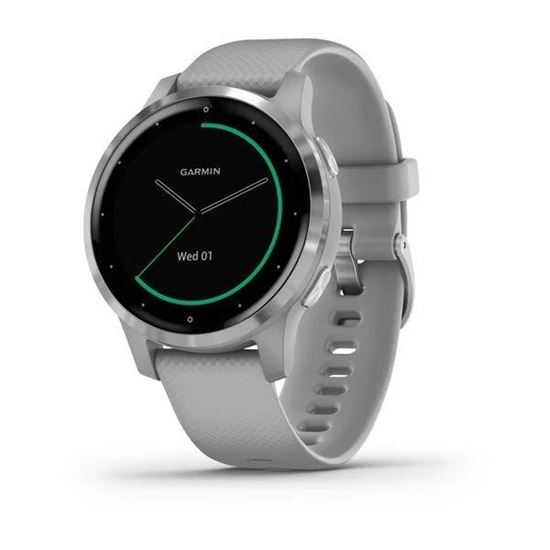 Picture of Garmin Vivoactive 4s Powder Grey with Silver Hardware - 12 άτοκες δόσεις