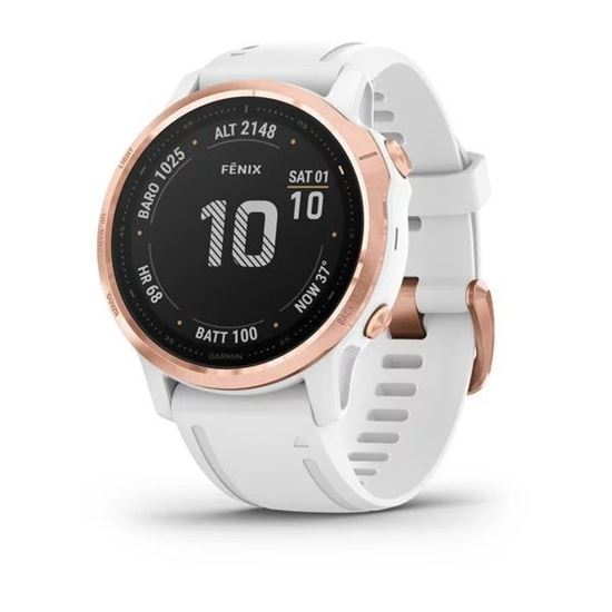 Picture of Garmin fenix 6s Pro Rose Gold-Tone with White Band - 24 άτοκες δόσεις