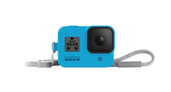Picture of GoPro Sleeve + Lanyard Blue for Hero8 Black