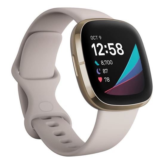 Picture of Fitbit Sense Lunar White / Soft Gold Stainless Steel - 12 άτοκες δόσεις
